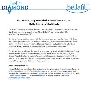 Press Release Beatitude bellafill bella diamond